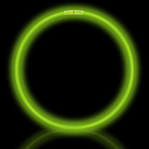 "22""Green Premium Glow Necklaces (50/tube or 600/case)"