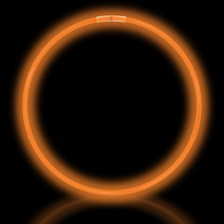 "22"" Orange Premium Glow Necklaces (50/tube or 600/case)"