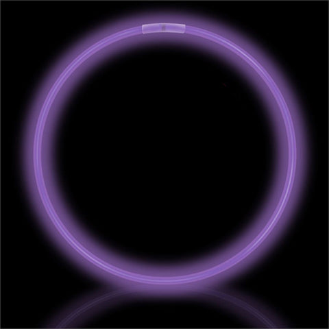 "22"" Purple Premium Glow Necklaces (50/tube or 600/case)"
