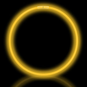 "22"" Yellow Premium Glow Necklaces (50/tube or 600/case)"