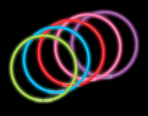 "22"" Solid Color Glow Necklaces (volume & color options)"