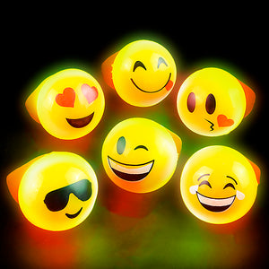 "1"" Flashing Emoticon Rings (pack of 24)"