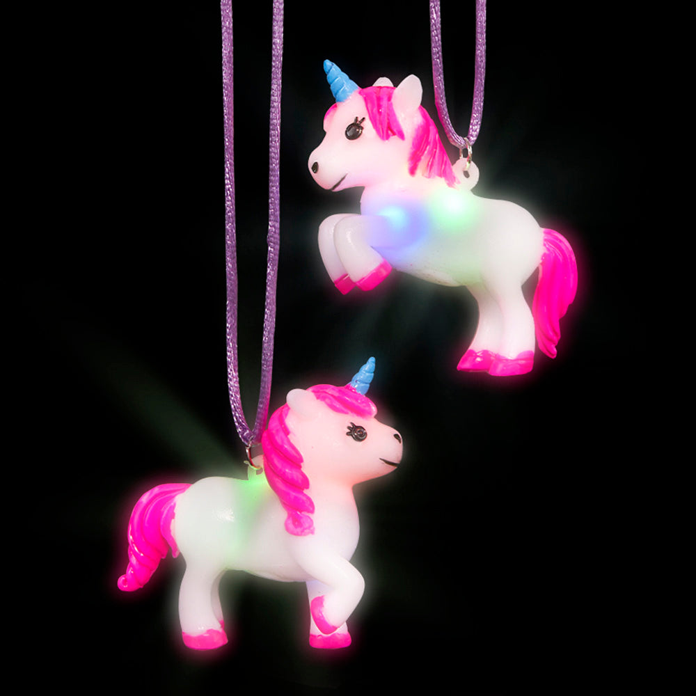 "2.5""  Light-Up Unicorn Necklace (pack of 12)"