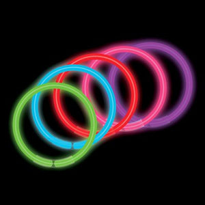 "8"" Assorted Premium Glow Bracelets (100/tube or 2000/case)"