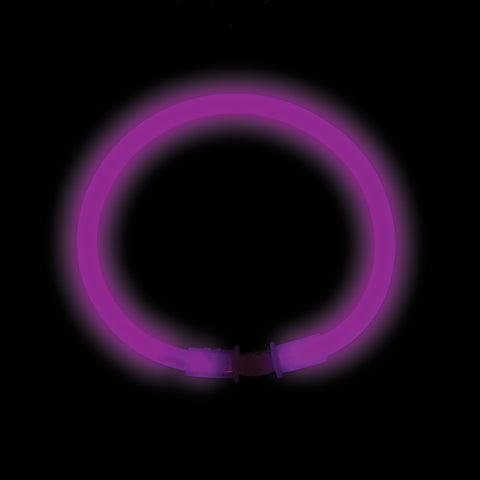"8"" Purple Premium Glow Bracelets (50/tube or 1000/case)"