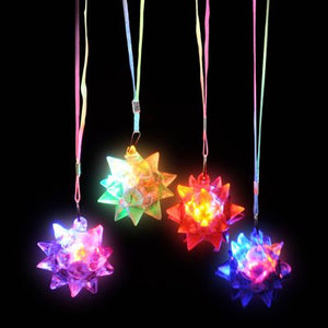 Flashing Star Ball Necklace (Pack of 12)