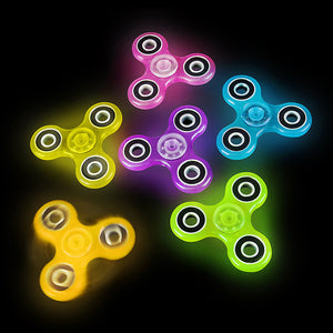 Glow in the dark fidget spinners