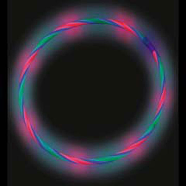 GLNSRG | Red Green Blue Glow Swirl Necklaces