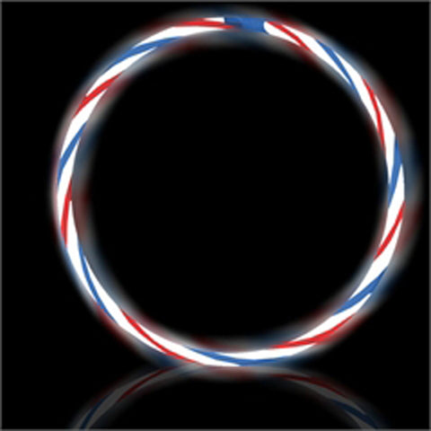 "22"" Swirl RWB Premium Glow Necklaces (50/tube or 600/case)"