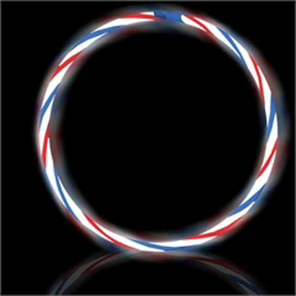 GLNSRB | Red White Blue Glow Swirl Necklaces