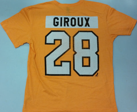 Claude Giroux Philadelphia Flyers Reebok Distressed Name and Number Player T-Shirt – Orange/White