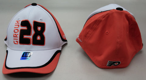 Claude Giroux Reebok #28 NHL Face-Off Headwear Sized Cap - White/Orange