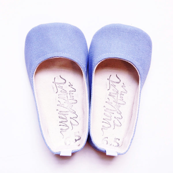 "Color Punch Flats in ""Periwinkle"""