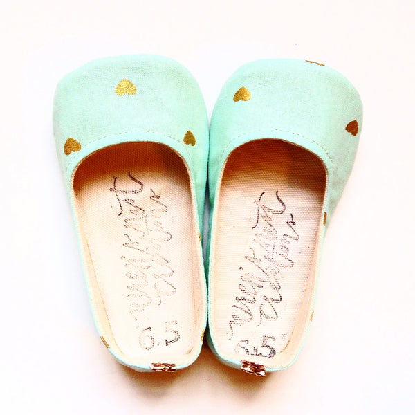 "Color Punch Flats in ""Minty Love"""