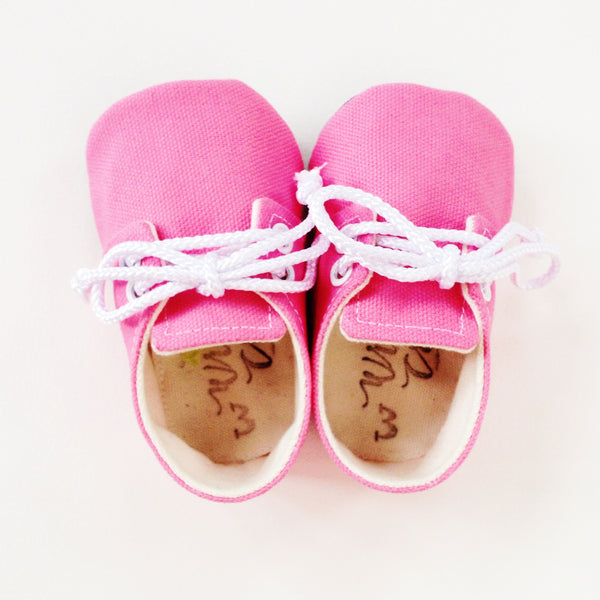 "Color Punch Sneakers in ""Bubblegum"""
