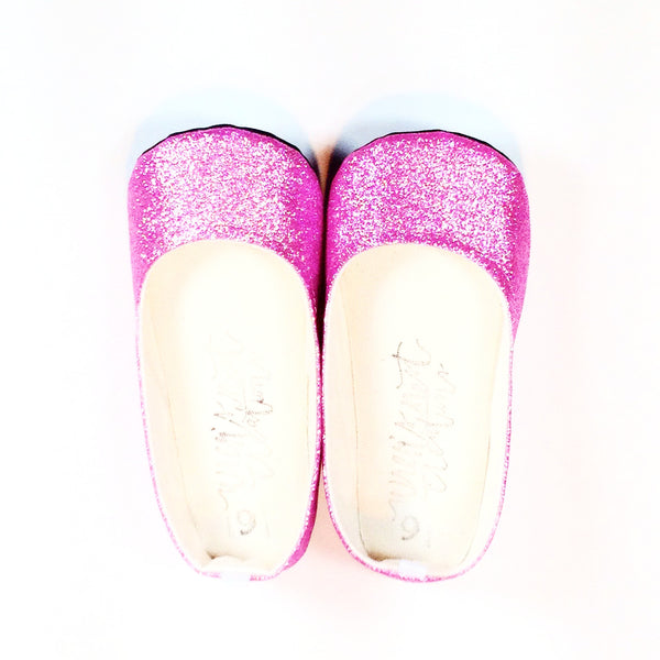 "Glitter Flats in ""Pink"""