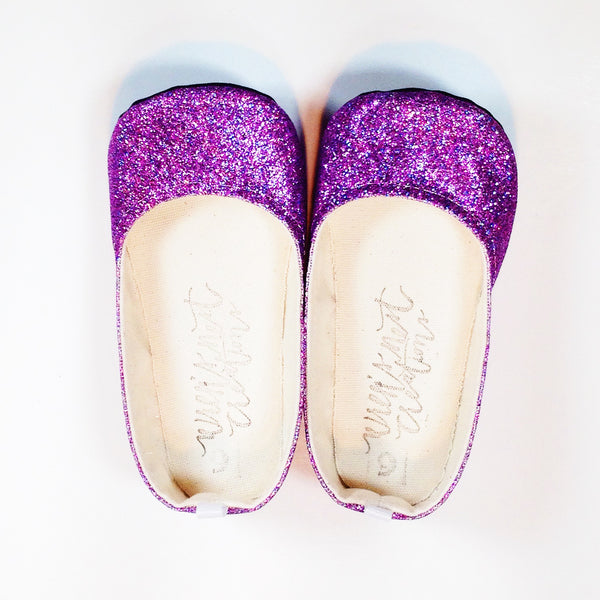 "Glitter Flats in ""Purple"""