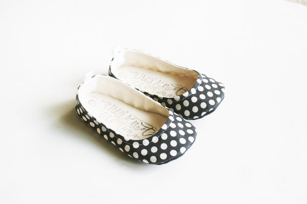 "Color Punch Flats in ""Polka Dot"""