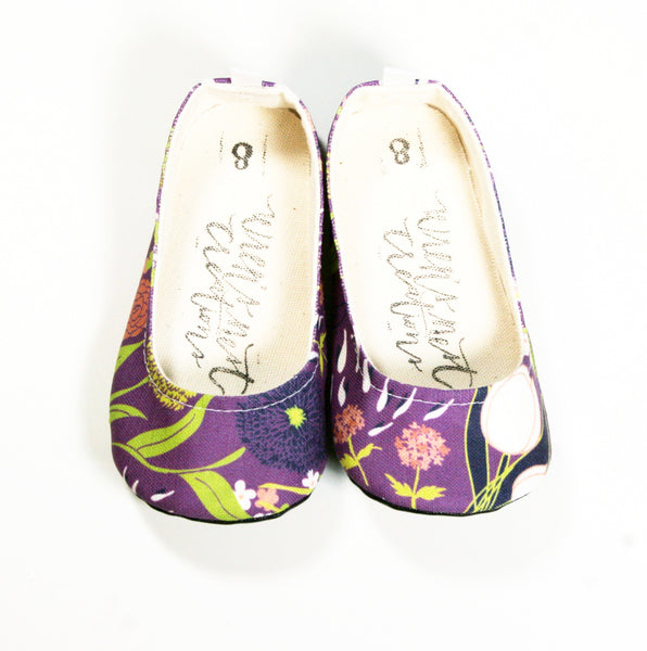 "Color Punch Flats in ""Purple Floral"""