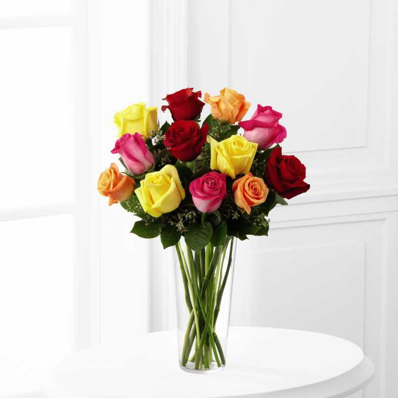 The FTD® Bright Spark™ Rose Bouquet (E4-4809)