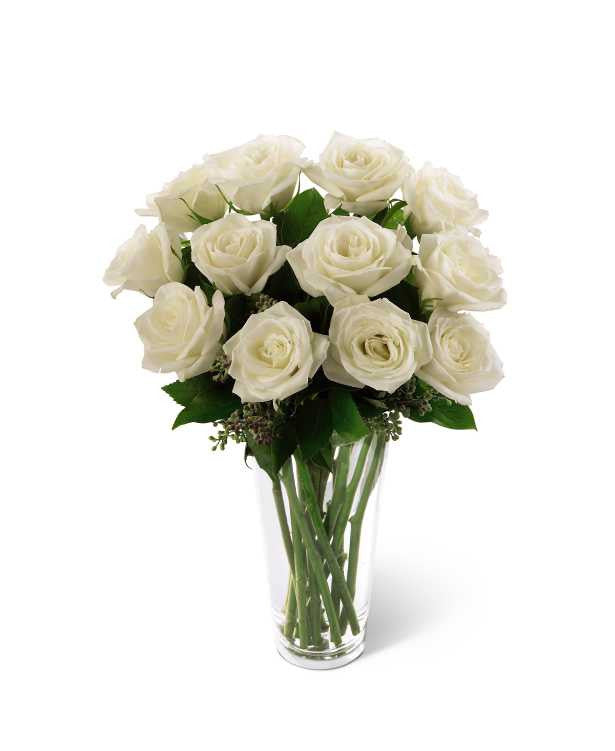 The FTD® White Rose Bouquet (S3-4308; E8-4812)