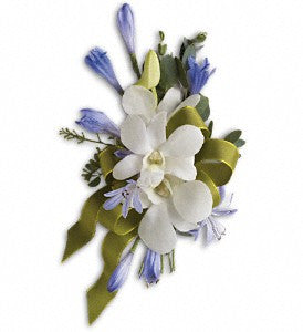 Blue and White Elegance Corsage (T201-4)