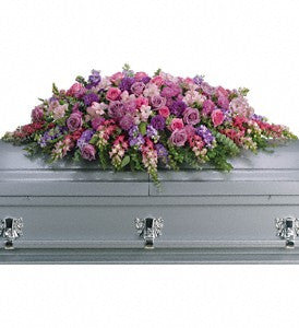 Lavender Tribute Casket Spray (T235-2)
