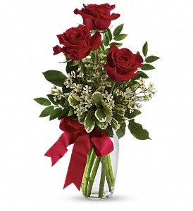 Thoughts of You Bouquet with Red Roses (TEV12-6)