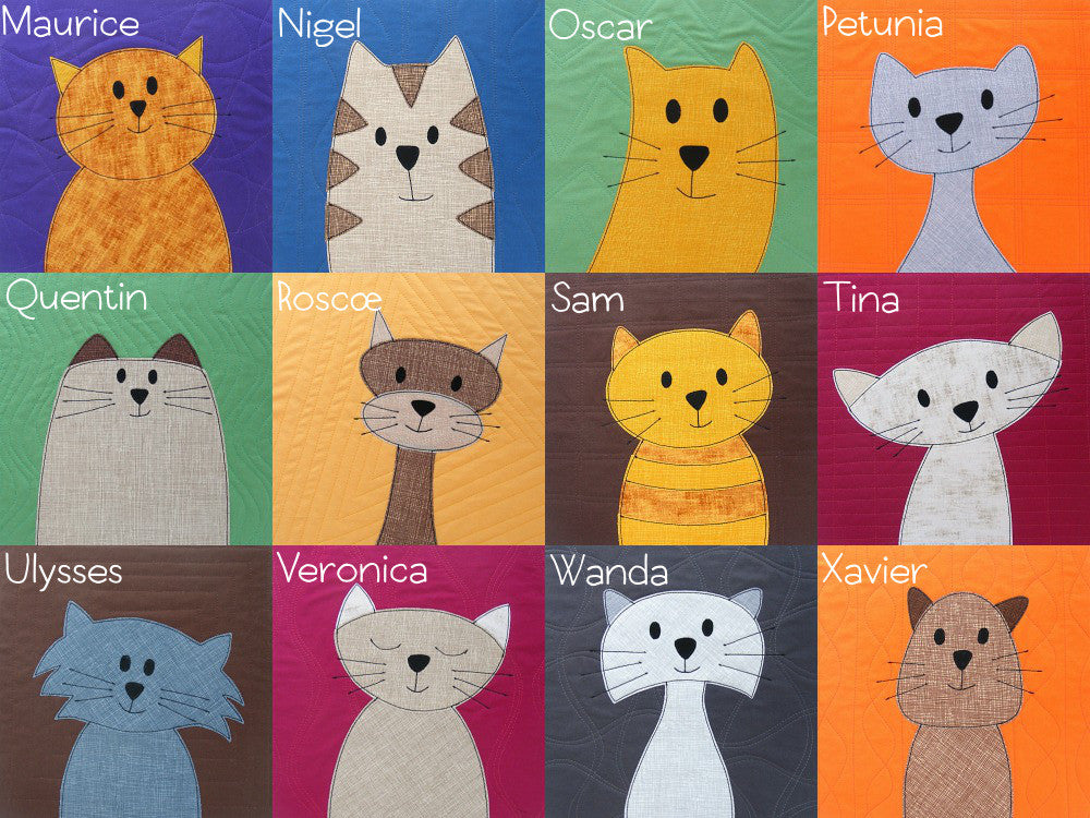 graphic about Free Printable Cat Quilt Patterns named Cats Quilt Habit
