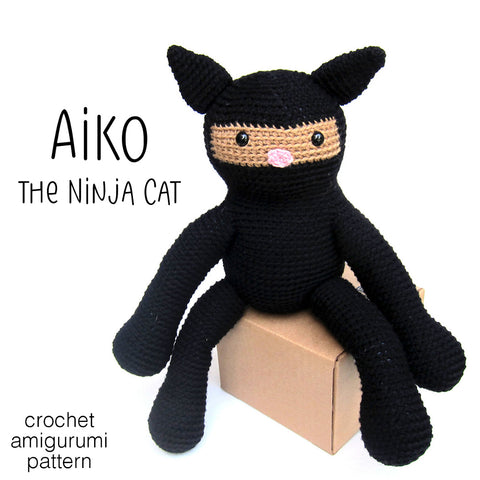 Aiko the Ninja Cat Crochet Amigurumi Pattern