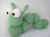 Alastair the Caterpillar (or Inchworm) Crochet Amigurumi Pattern