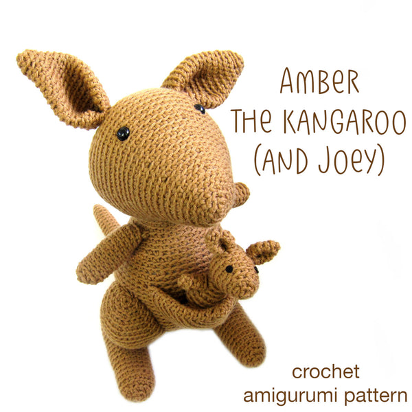 Amber the Kangaroo (and Joey!) Crochet Amigurumi Pattern