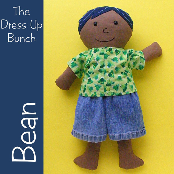 Bean - A Dress Up Bunch Rag Doll Pattern