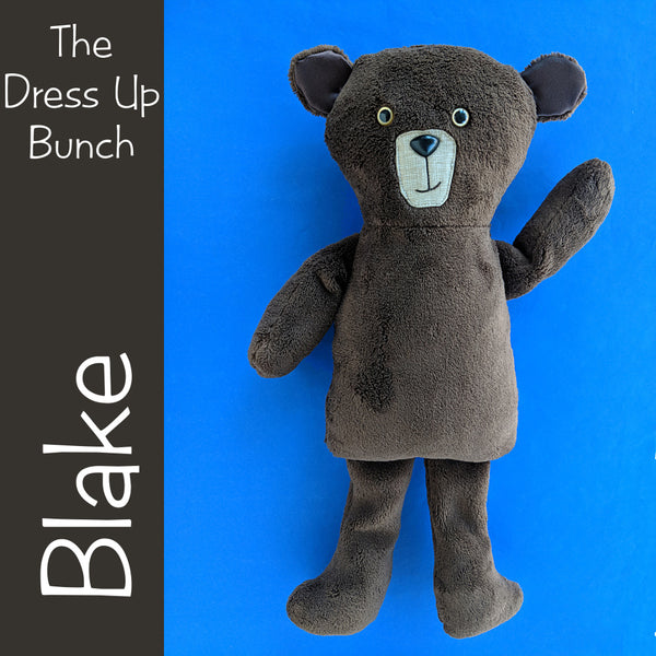 Blake Bear - Dress Up Bunch rag doll pattern