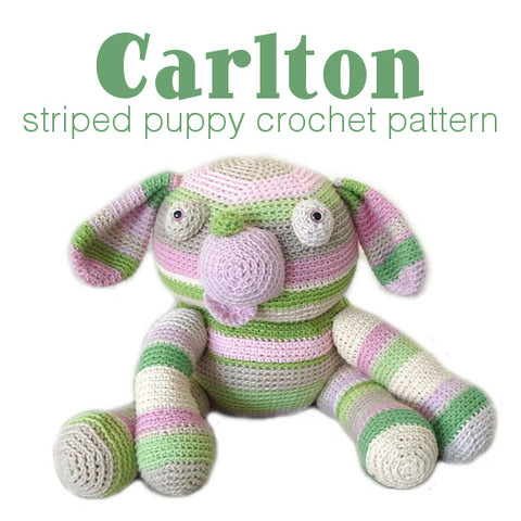 Carlton the Striped Dog Crochet Amigurumi Pattern