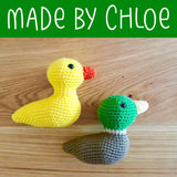 Delia the Duck Crochet Amigurumi Pattern