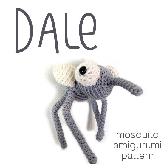 Dale the Mosquito Crochet Amigurumi Pattern