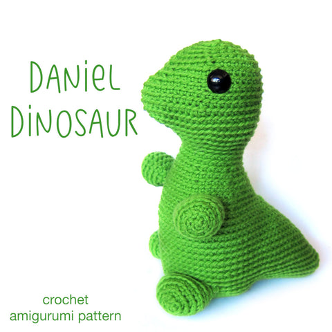 Daniel the Dinosaur Crochet Amigurumi Pattern