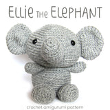Ellie the Elephant Crochet Amigurumi Pattern