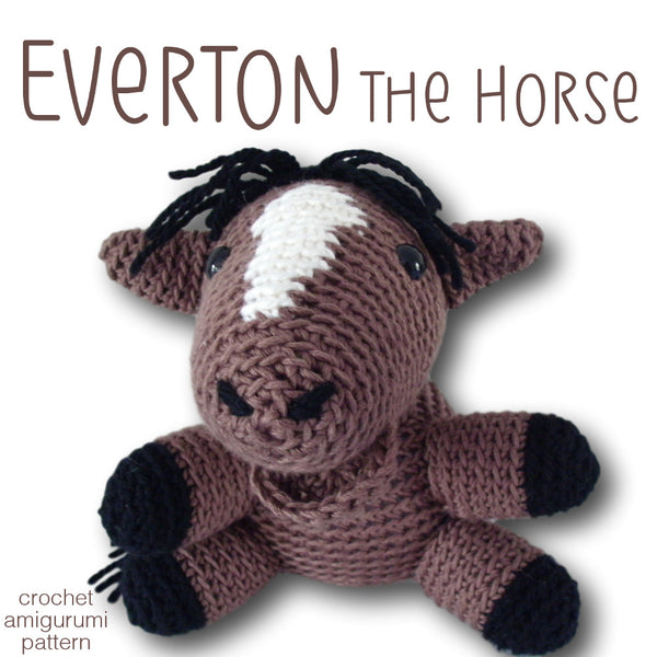 Everton the Horse Crochet Amigurumi Pattern