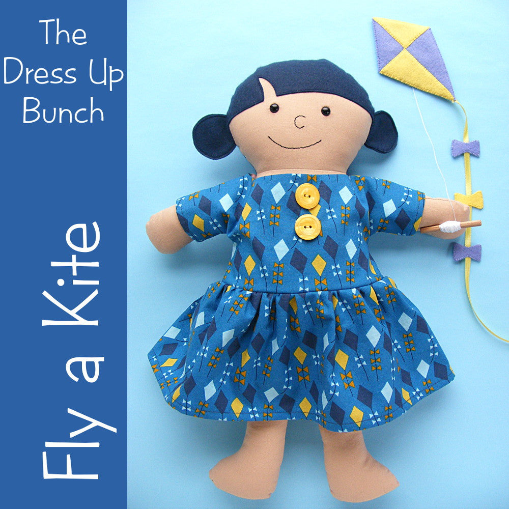 Dress Up Bunch Doll Fly a Kite Dress and Kite Pattern