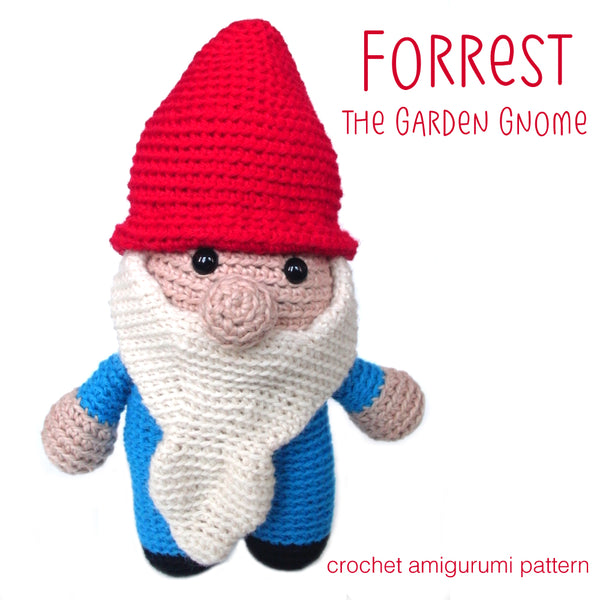 Forrest the Gnome Crochet Amigurumi Pattern