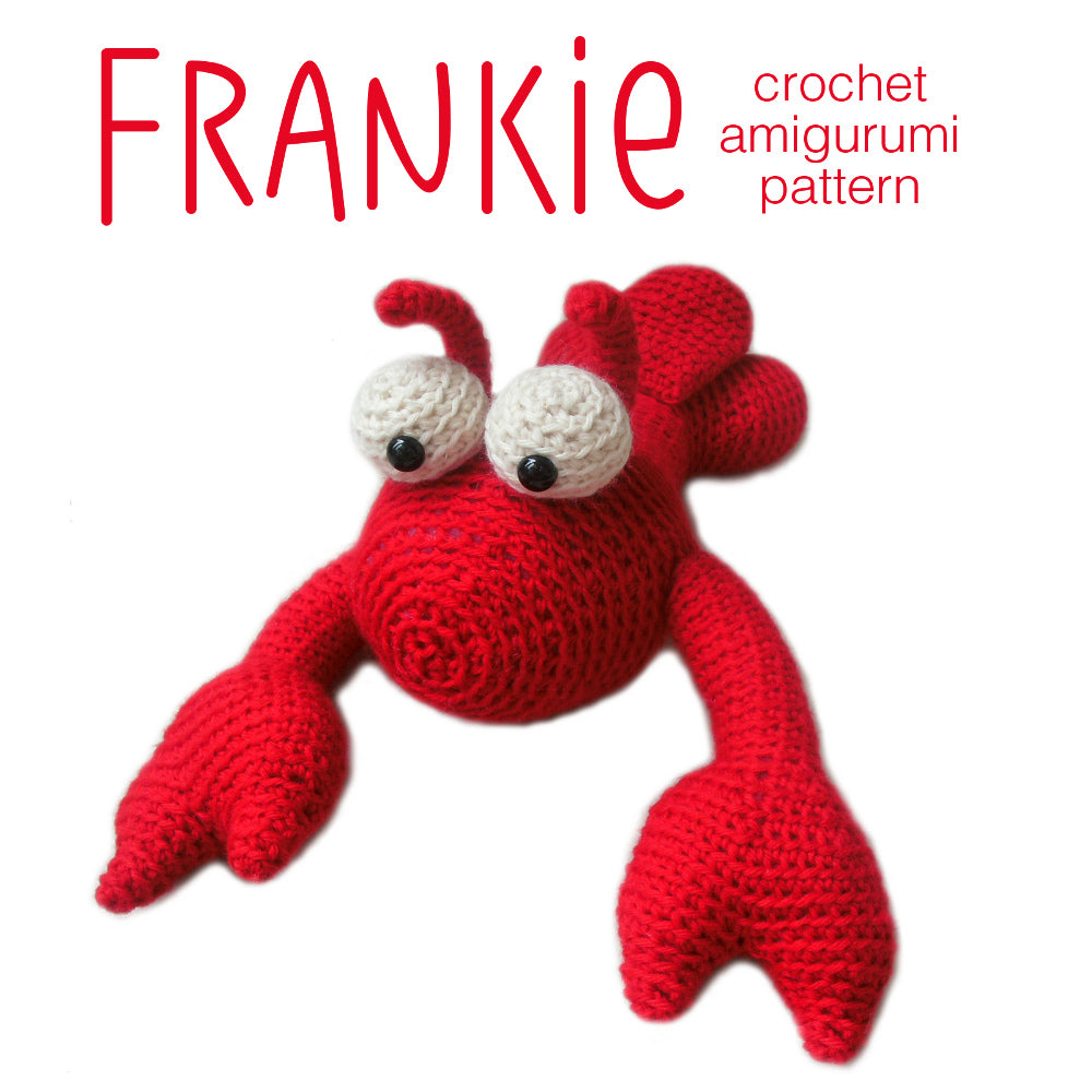 Frankie the Lobster Crochet Amigurumi Pattern