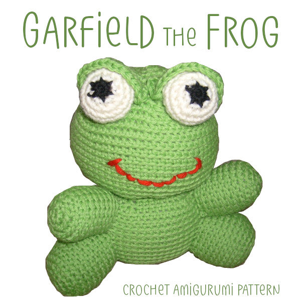 Garfield the Frog Crochet Amigurumi Pattern