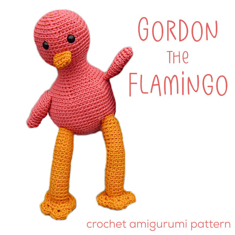 Gordon the Flamingo Crochet Amigurumi Pattern