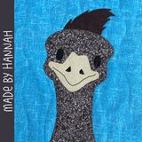 Eloise the Emu Applique Pattern