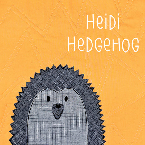 Heidi Hedgehog Applique Pattern
