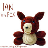Ian the Fox Crochet Amigurumi Pattern