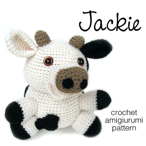 Jackie the Cow Crochet Amigurumi Pattern