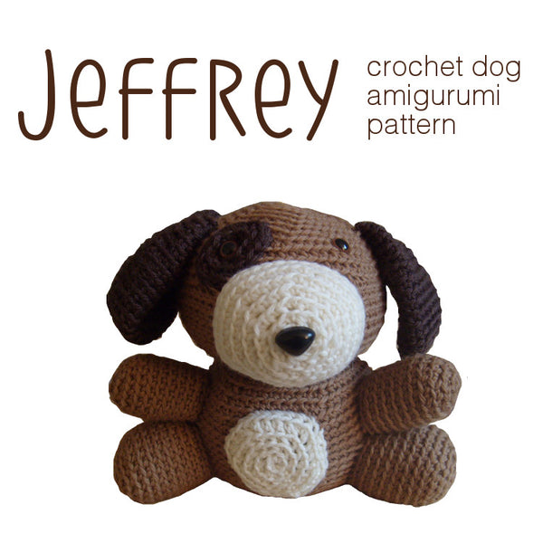 Jeffrey the Dog Crochet Amigurumi Pattern